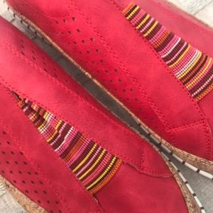 Shoes - Beautiful red slip on tennis shoes!!